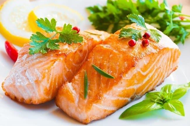 cá hồi, thực phẩm giải độc gan