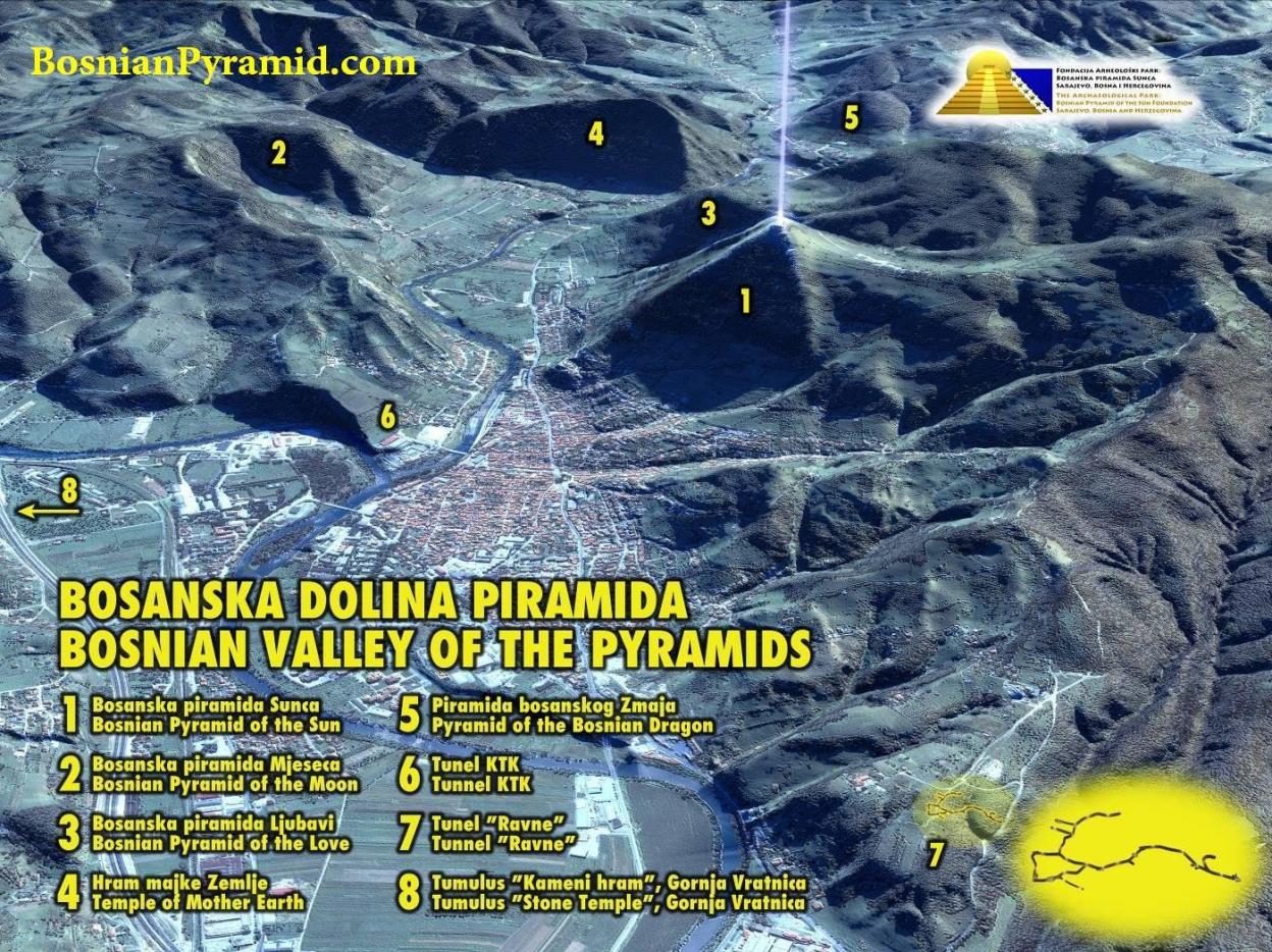 """Thung lũng kim tự tháp của Bosnia, nơi được cho là có ít nhất 5 kim tự tháp ẩn giấu dưới các """"ngọn đồi"""""""
