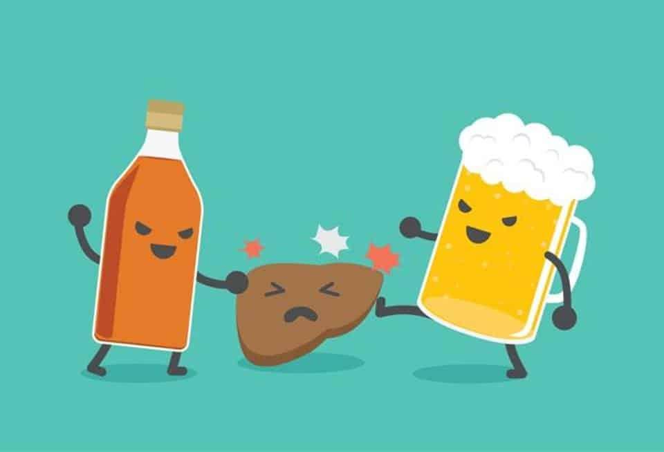Uống nhiều bia rượu không tốt cho gan (ảnh: Shutterstock)