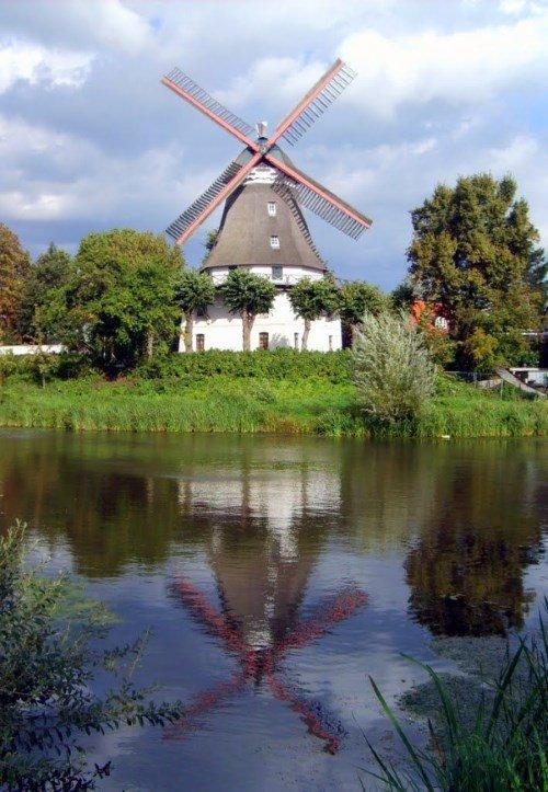 Một cối xay gió ở Hamburg