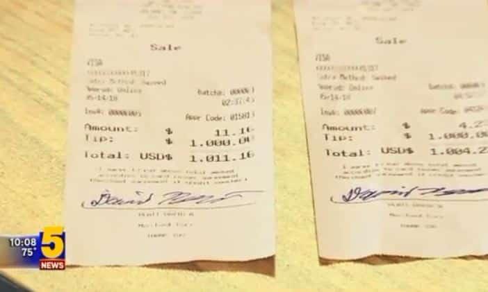 Tài xế tặng 2.000 USD tiền tip cho nữ phục vụ khi mua hamburger