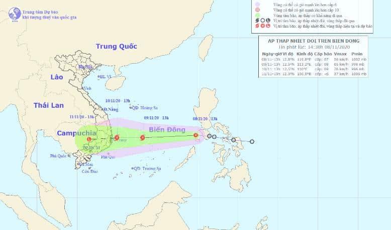 áp thấp nhiệt đới, bão trên biển Đông