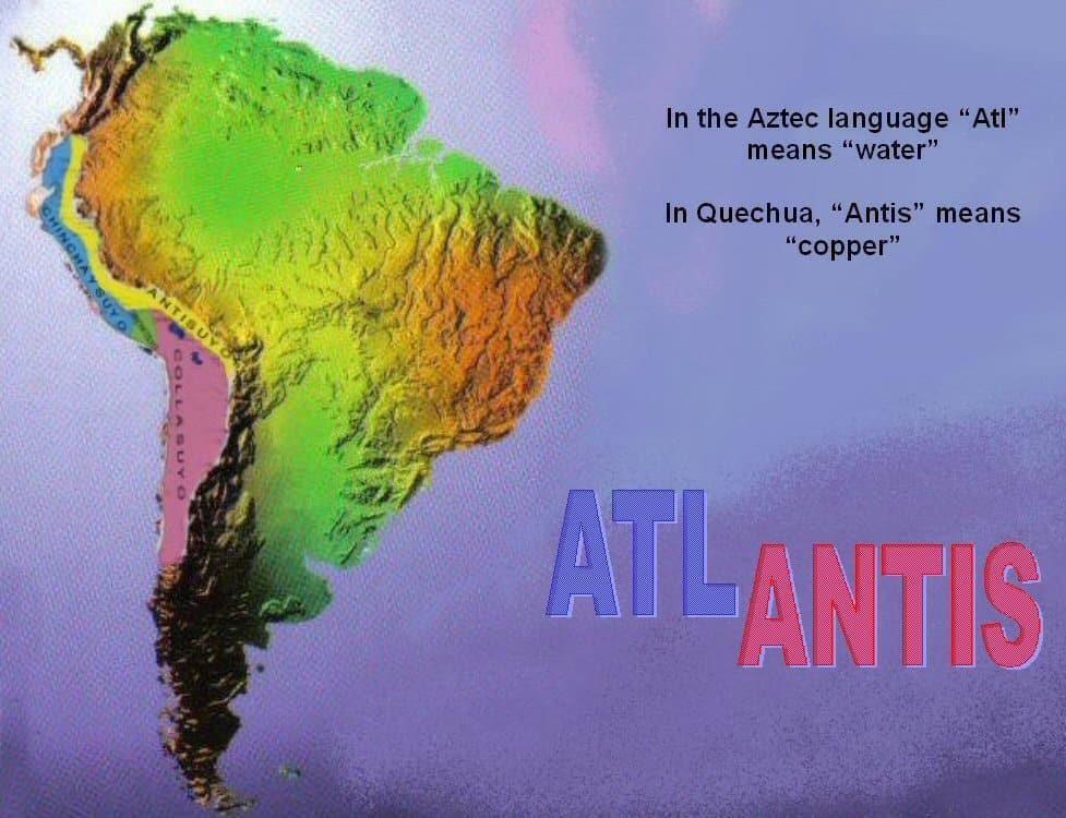 """Trong ngôn ngữ của người Aztec, """"Alt"""" có nghĩa là """"nước"""", còn trong ngôn ngữ Quechua, """"Antis"""" có nghĩa là """"đồng"""" (ảnh: atlantisbolivia.org)"""