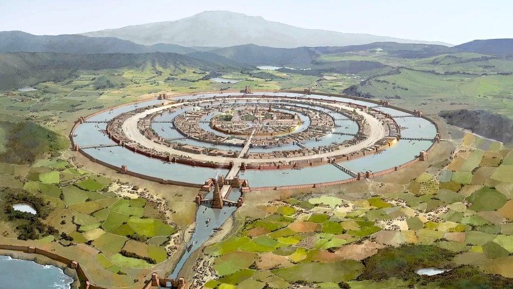 Hình vẽ mô phỏng thành phố Altantis, thủ phủ của lục địa Atlantis (ảnh: atlantisbolivia.org)