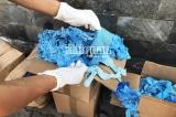 Thu giữ 1.070 thùng găng tay y tế đã qua sử dụng nhập từ Trung Quốc