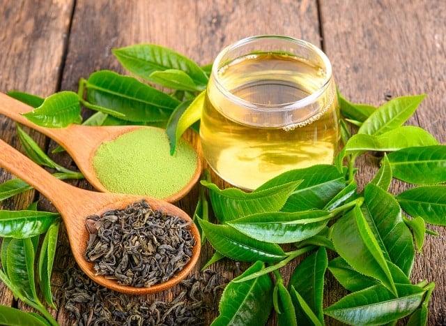 thải độc tự nhiên, trà xanh, hồng trà