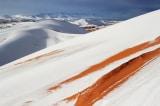 Thế giới cổ tích phủ tuyết trắng xóa ở sa mạc Sahara