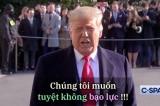 TT Trump 'vô cùng tức giận' về việc luận tội, nhưng mong muốn 'không bạo lực'
