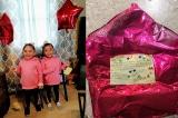 Bóng bay gửi ông già Noel bay 1000 km, hai cô bé được gửi quà