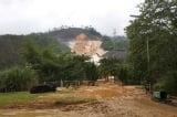 Vỡ đường ống dẫn nước tại Thủy điện A Lưới (Huế)