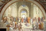 """Cuộc tranh luận giữa Plato và Aristotle trong kiệt tác """"Học viện Athens"""""""
