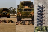 Quân đội Trung Quốc: Huấn luyện xe tăng chạy qua không đè trúng người