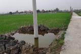 Thanh Hóa: Hai bé chết đuối thương tâm ở hố chôn cột điện không biển báo