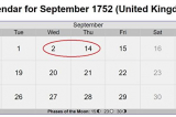 """Vì sao nước Anh có 11 ngày bị """"biến mất"""" vào năm 1752?"""