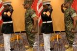 Thượng sĩ quân đội Mỹ tự hào hành lễ với con trai được thăng cấp